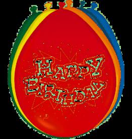 Happy Birthday Balloons 30 cm - 8 pieces