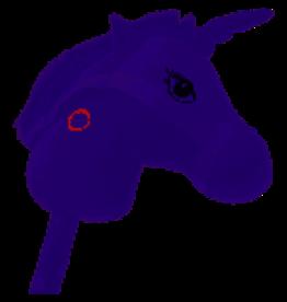 Stokpaard Eenhoorn met Geluid - Paars