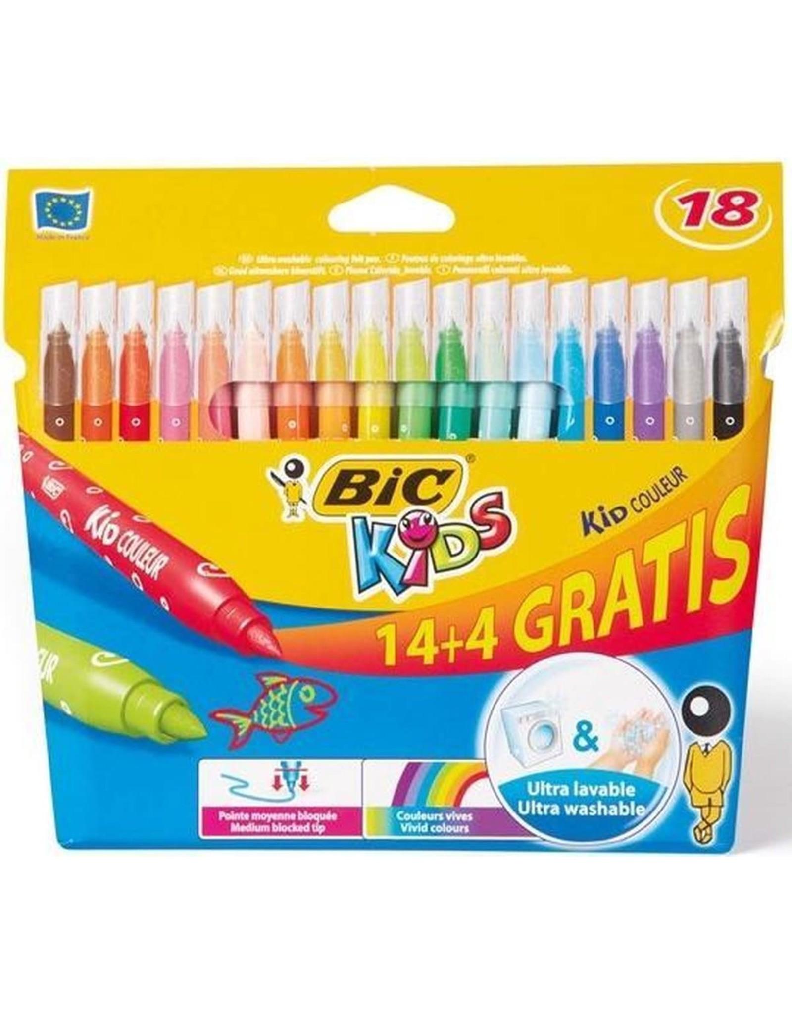 BIC BIC-KIDS-ETUI 18 KLEURSTIFTEN.