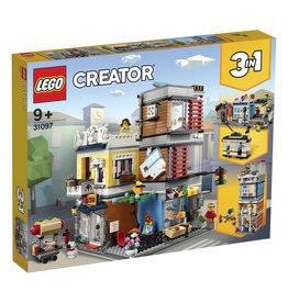 LEGO LEGO 31097 WOONHUIS, DIERENWINKEL EN CAFÉ