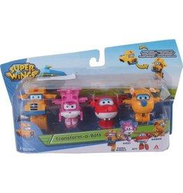ALPHA GROUP Super Wings Transform-a-bots 4pk (Poppa wheel&Dizzy&Jett&Donnie)