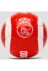 Ajax mini bal - wit/rood
