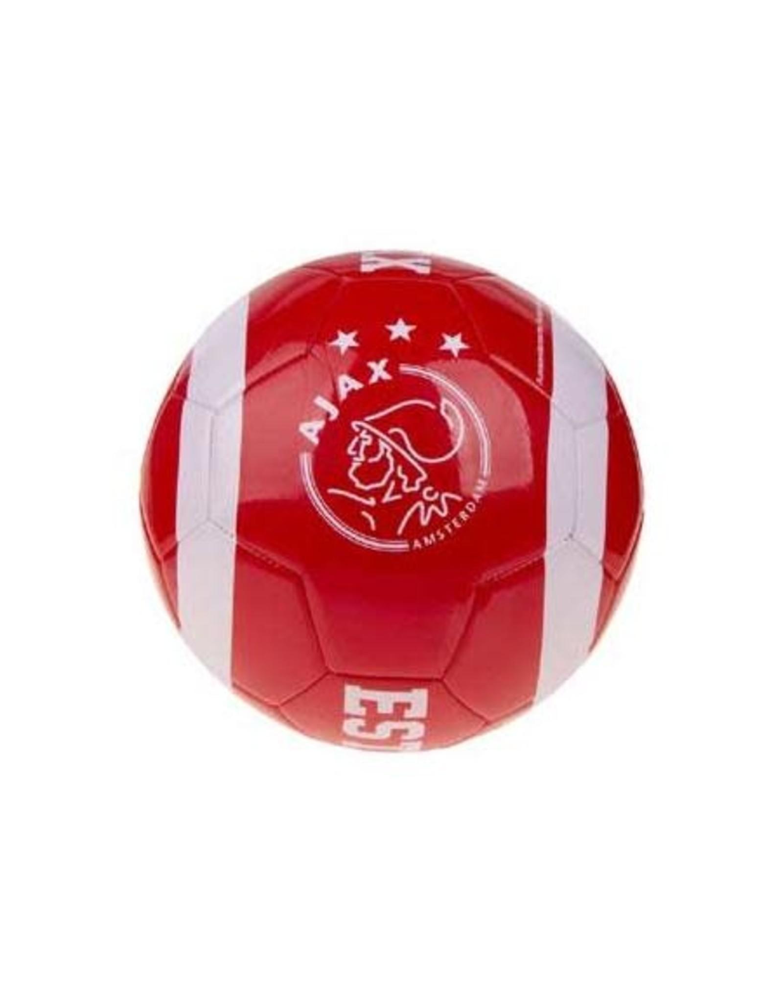 AJAX AFC Ajax voetbal - maat 5 - wit/rood