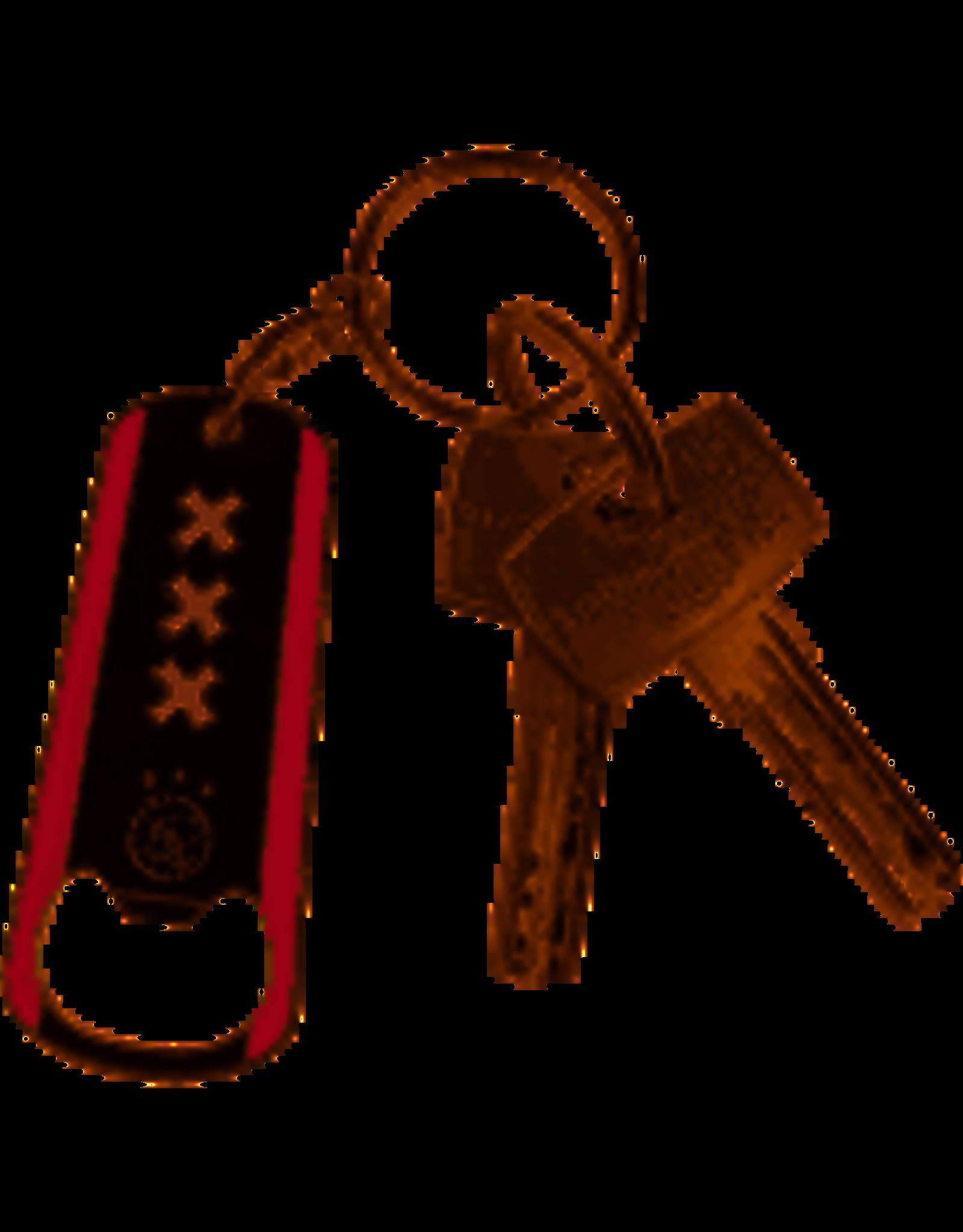 Ajax-sleutelhanger opener zwart/rood logo