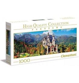 Clementoni - Panorama High Quality Collectie puzzel - Het kasteel Neuschwanstein - 1000 stukjes, puzzel volwassenen