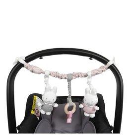NIJNTJE Nijntje Baby Rib Autostoelspeeltje Pink