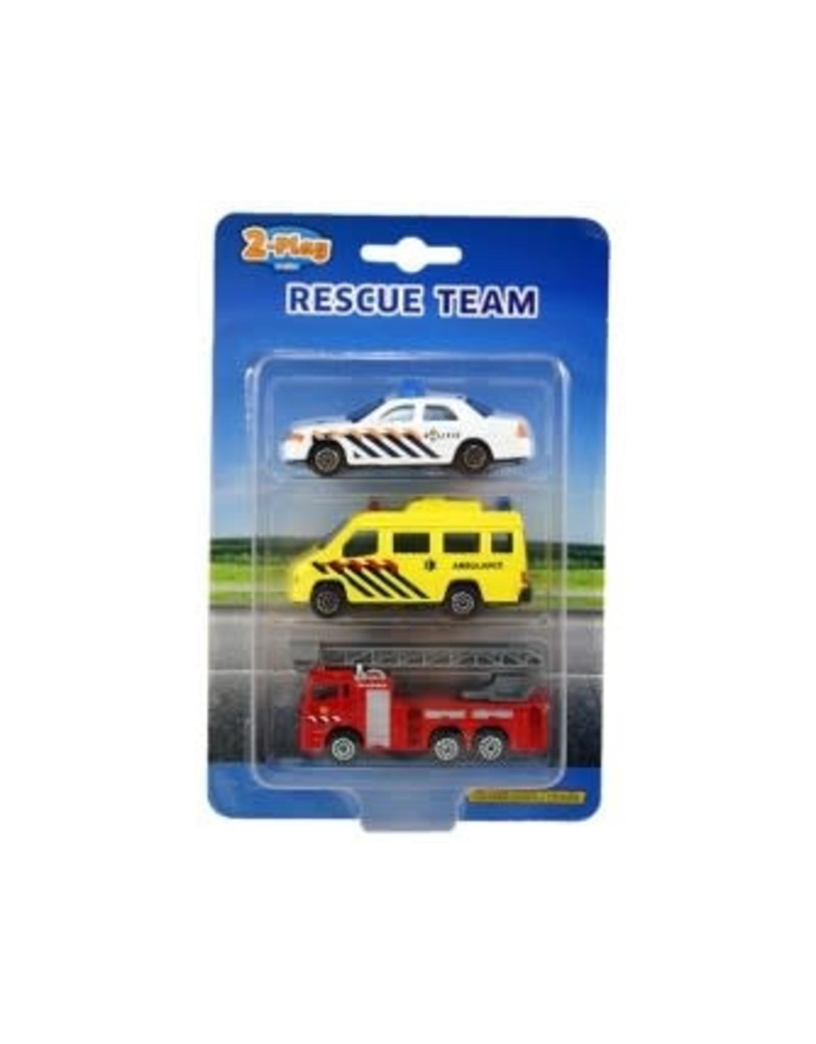 2-Play reddingsteam voertuigen - 3 stuks