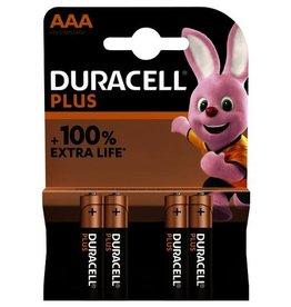 Duracell plus power duralock AAA batterij 4 stuks