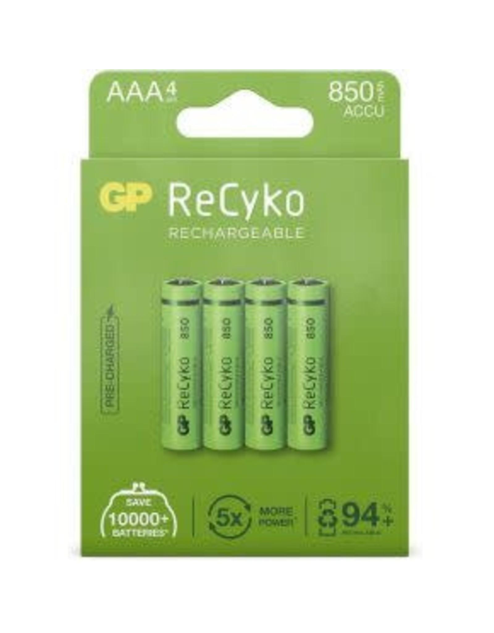1x4 GP ReCyko NiMH Accu AAA 850mAH. ready to use