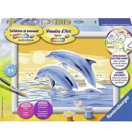 RAVENSBURGER Ravensburger Schilderen op nummer Springende dolfijnen