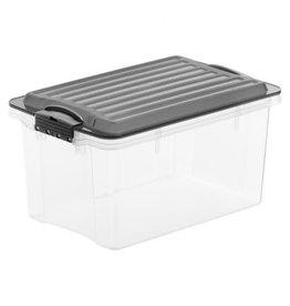 ROTHO Rotho opbergbox met deksel met deksel stapelbaar a5 4,5 l compact antraciet
