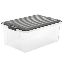 ROTHO Rotho opbergbox met deksel stapelbaar a3 38 l compact antraciet