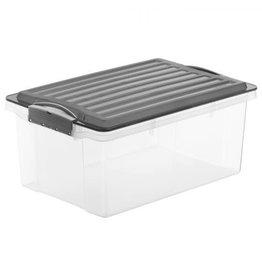 ROTHO Rotho opbergbox met deksel stapelbaar a4 13 l compact antraciet