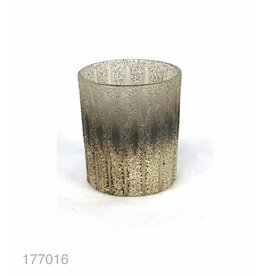 MANSION Fused Glass Ribbed Cilinder Copper fading Silver 10*10