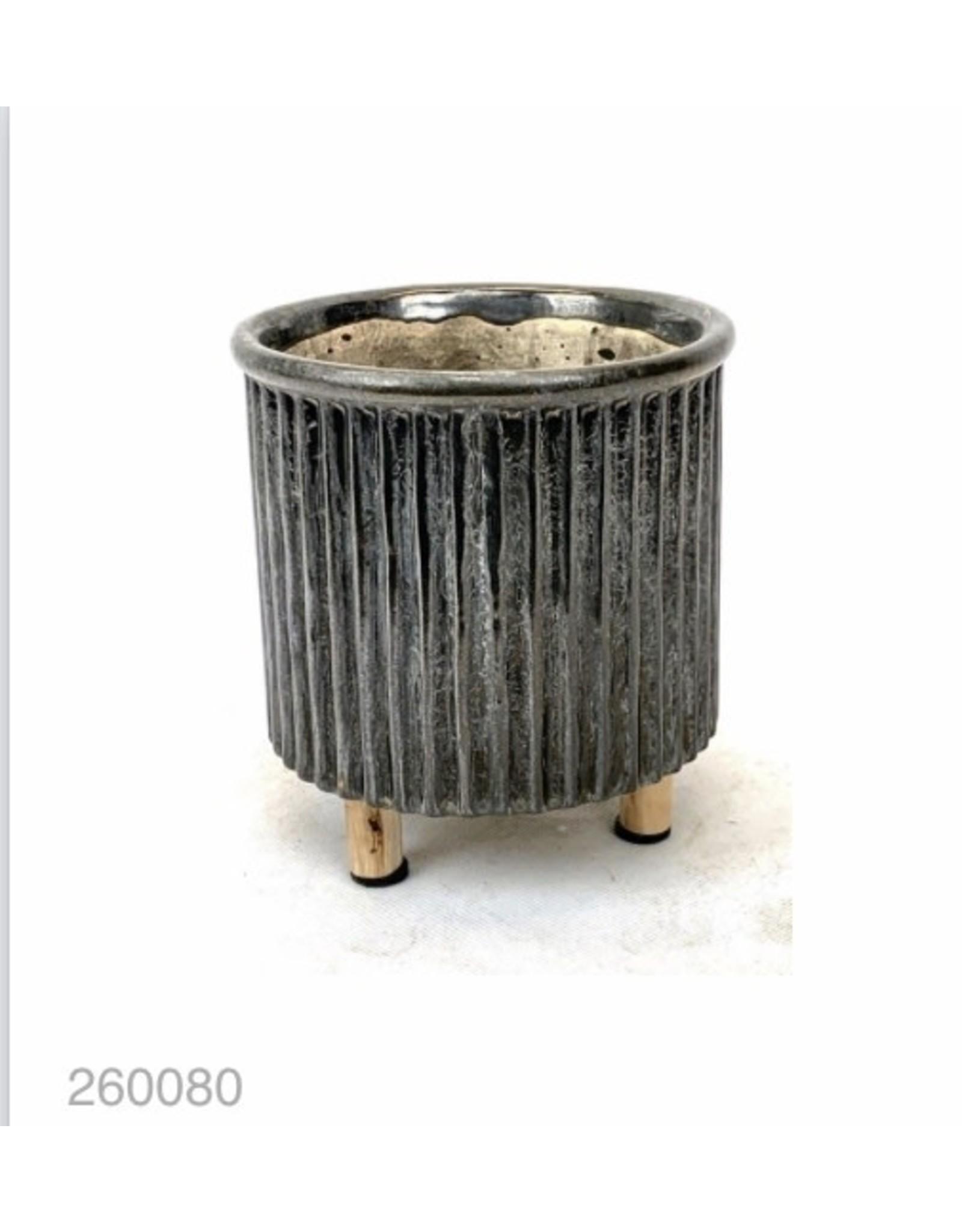 MANSION Bloempot Concrete pot on wooden leg Industrial