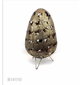MANSION Dull gold lamp with leaves 30.5*30.5*52