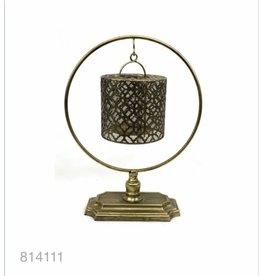 MANSION Gold plated Lantern on pedestal 30x14x39
