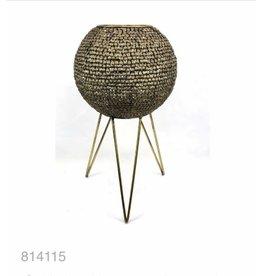 MANSION Gold plated Lantern / bloempot sphere on legs 32*32*54.5