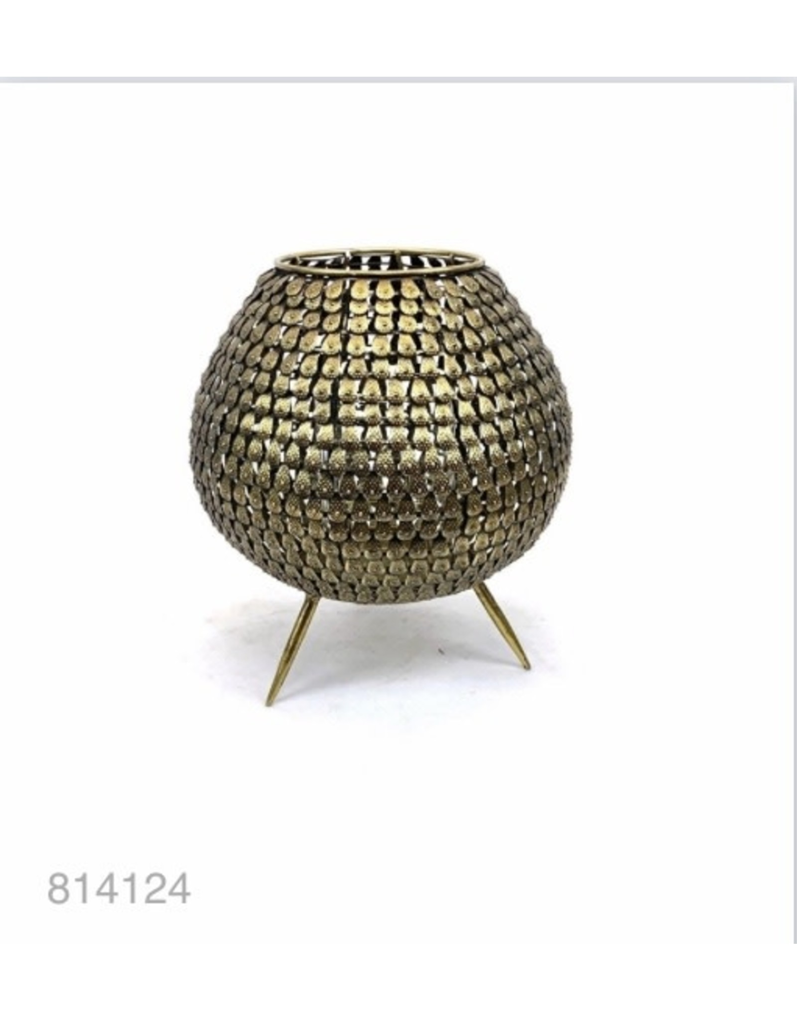 MANSION Gold plated waxine holder with scales on legs 20*20*21.5