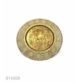 Weathered gold metal plate 53*53*6
