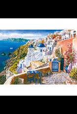 Blik op Santorini, 1000 stukjes - Puzzel