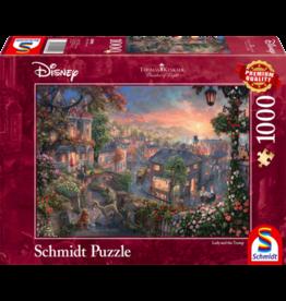 SCHMIDT Disney, Lady and the Tramp, 1000 stukjes - Puzzel SCHMIDT