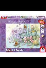 999 GAMES Bloemenmand, 1000 stukjes - Puzzel