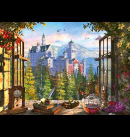 999 GAMES Uitzicht op het sprookjeskasteel, 1000 stukjes - Puzzel