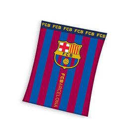 FCBARCELONA FC Barcelona fleecedeken blauw/rood 110 x 140 cm