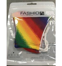 Mondkapje zonder filter regenboog per stuk