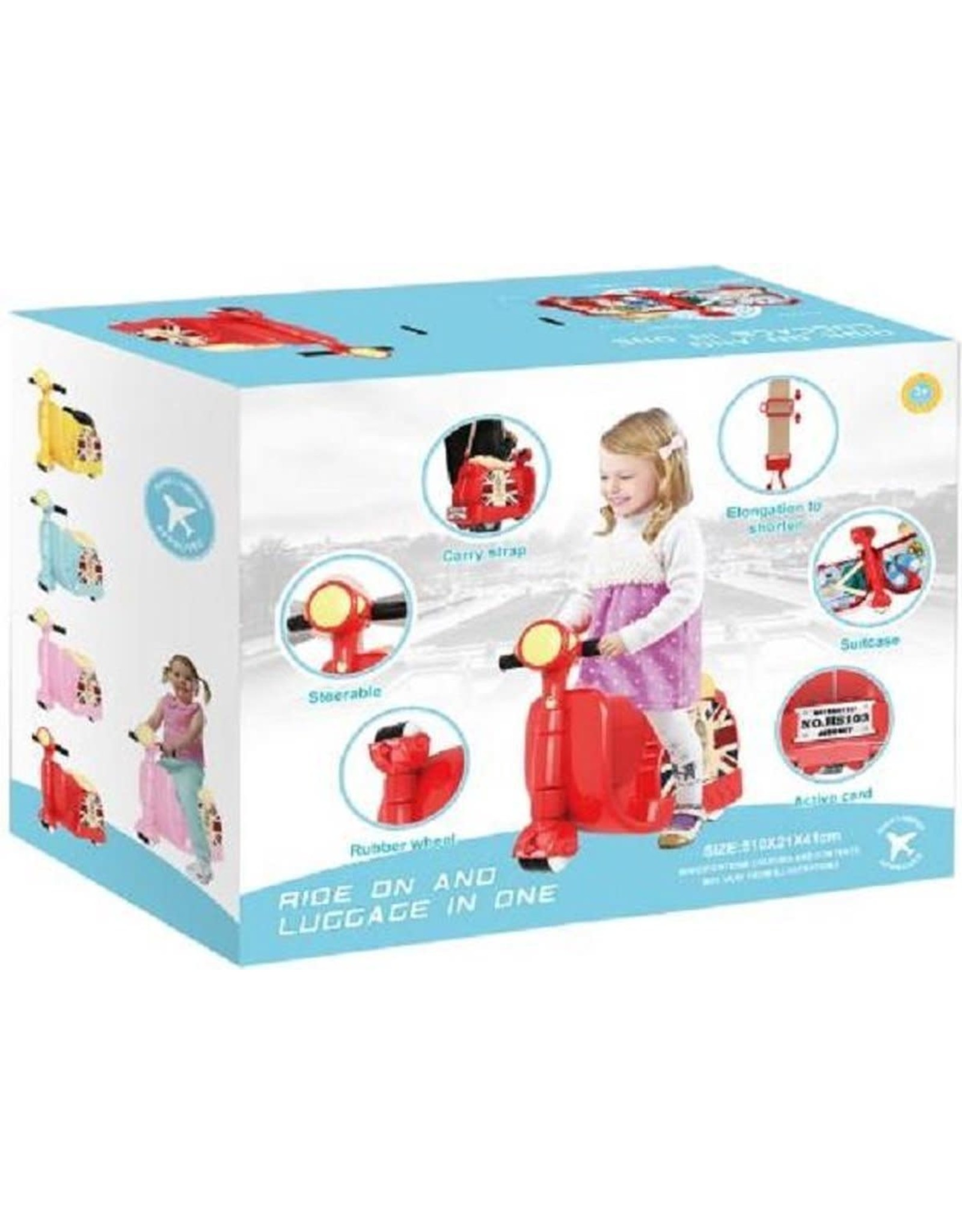 Classic loopscooter/kinderkoren rood