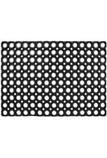 Deurmat rubber 40x60cm rondjes zwart
