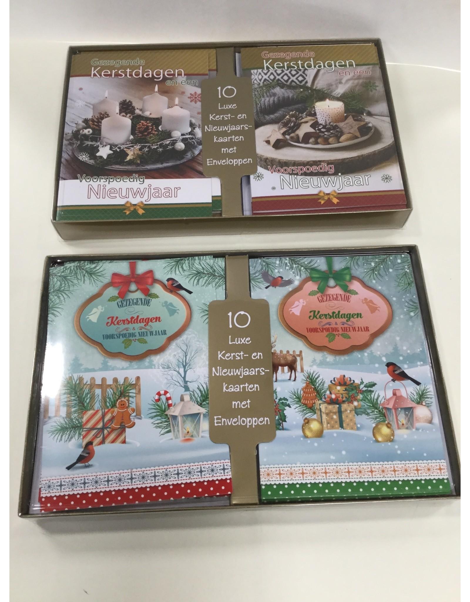 10  Gezegende kerstdagen  kaarten met enveloppen