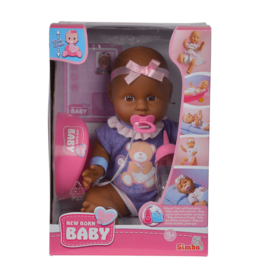New Born Baby Afro-Amerikaanse Pop, 4dlg
