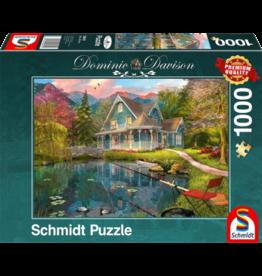 SCHMIDT Rusthuis aan het meer, 1000 stukjes - Puzzel SCHMIDT