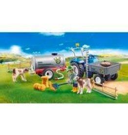 PLAYMOBIL PLAYMOBIL Country landbouwer met maaimachine 70367