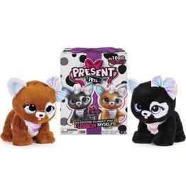 SPIN MASTER Present Pets, Glitter Puppy Interactieve pluchen speelgoeddier met meer dan 100 geluiden en acties (stijl kan variëren)
