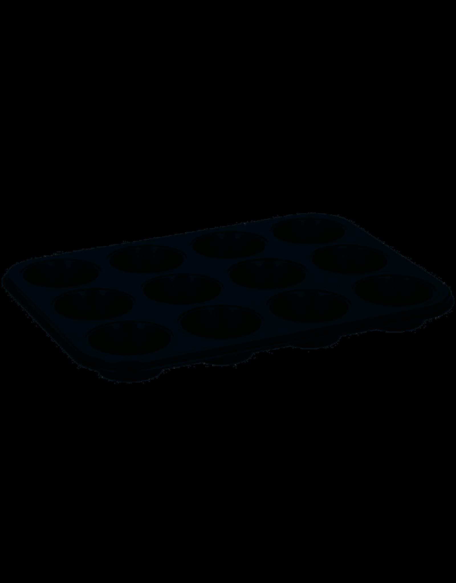 ALPINA Alpina Bakvorm muffin staal 26,5 x zwart