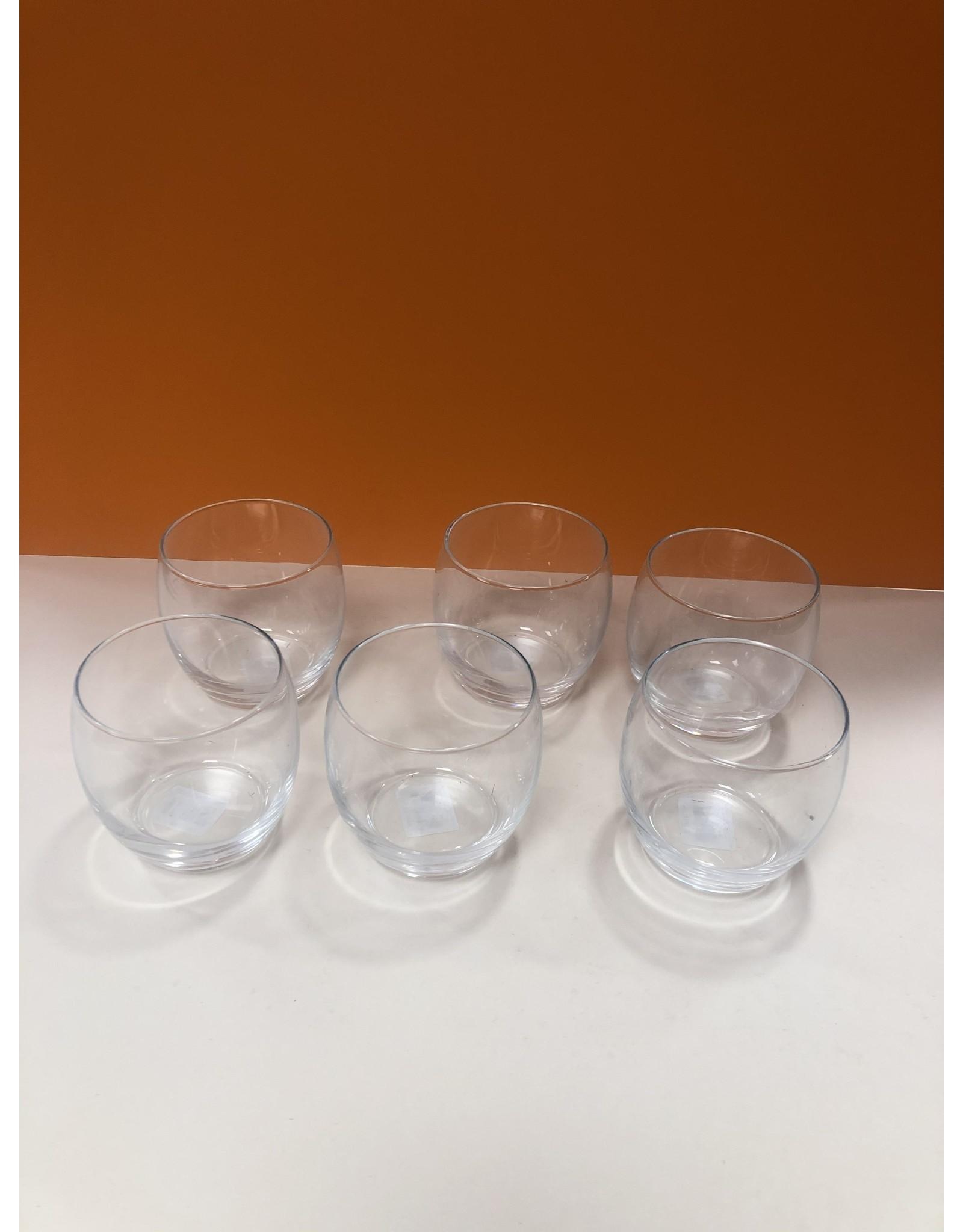 6x water glazen van 35 CL