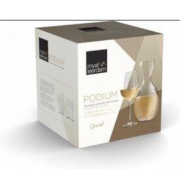 ROYAL LEERDAM Royal Leerdam Podium wijnglazenset met karaf 5-delig