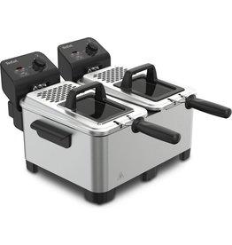 TEFAL Tefal dubbeler frituurpan/friteuse Double Pro FR3610 7 liter - RVS
