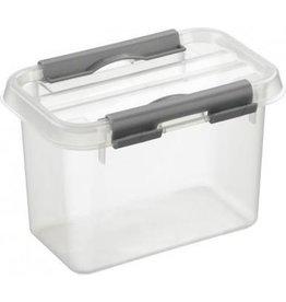 SUNWARE Sunware Q-Line Opbergbox - 0,8L - Kunststof - Transparant/Metallic