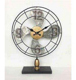 MANSION Metal Fan klok with digit dia30.5x7.5x39.5cm