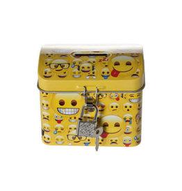 Durabo Spaarpot blik emoji geel