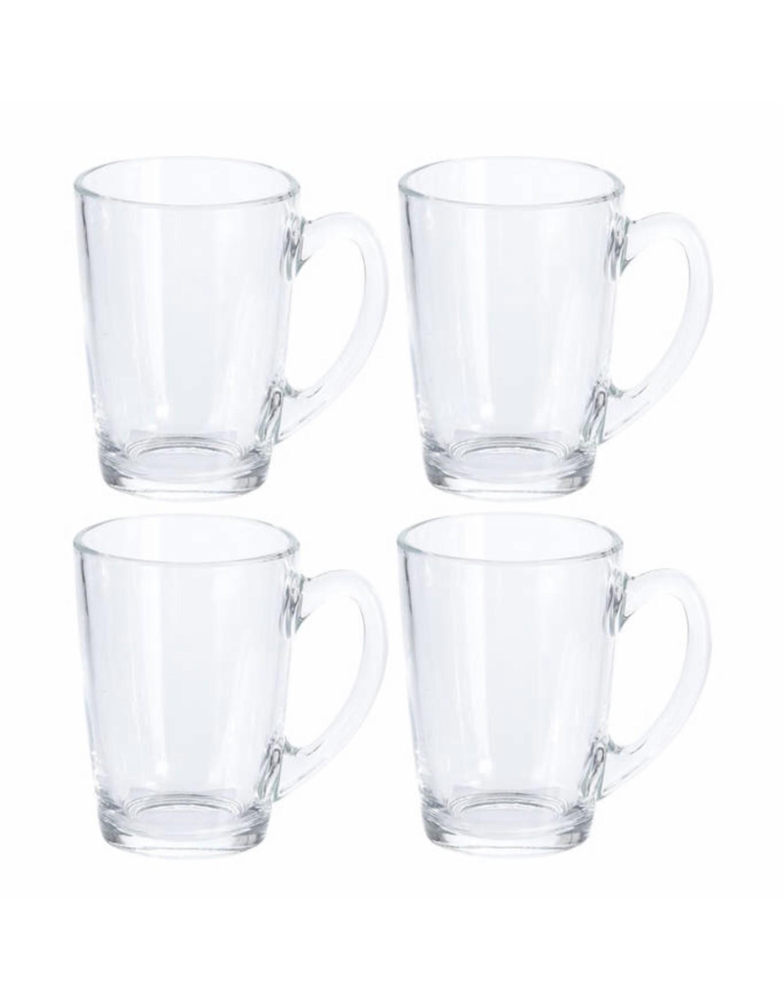4x Koffie glazen 320 ml - 4x thee glazen 320 ml