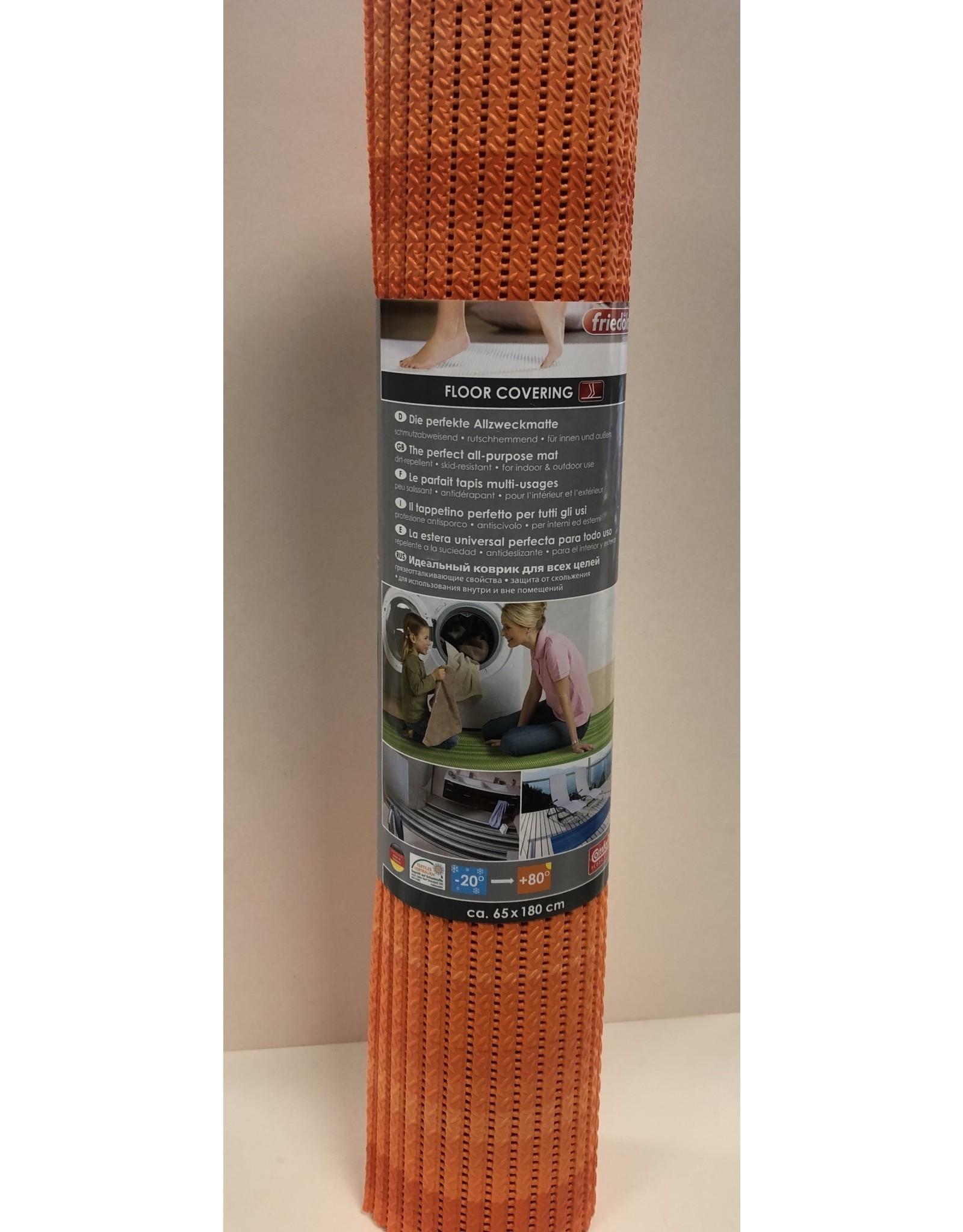 DUTCH HOUSE Antislip mat /universele mat oranje  65X180 Geschikt voor sauna/ vloerverwarming/ badkamer/binnen en buiten het huis