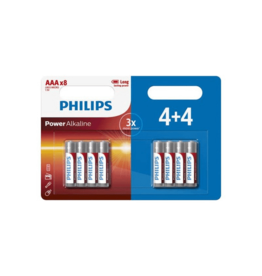 PHILIPS Philips Power Alkaline AAA/LR03 blister 4+4