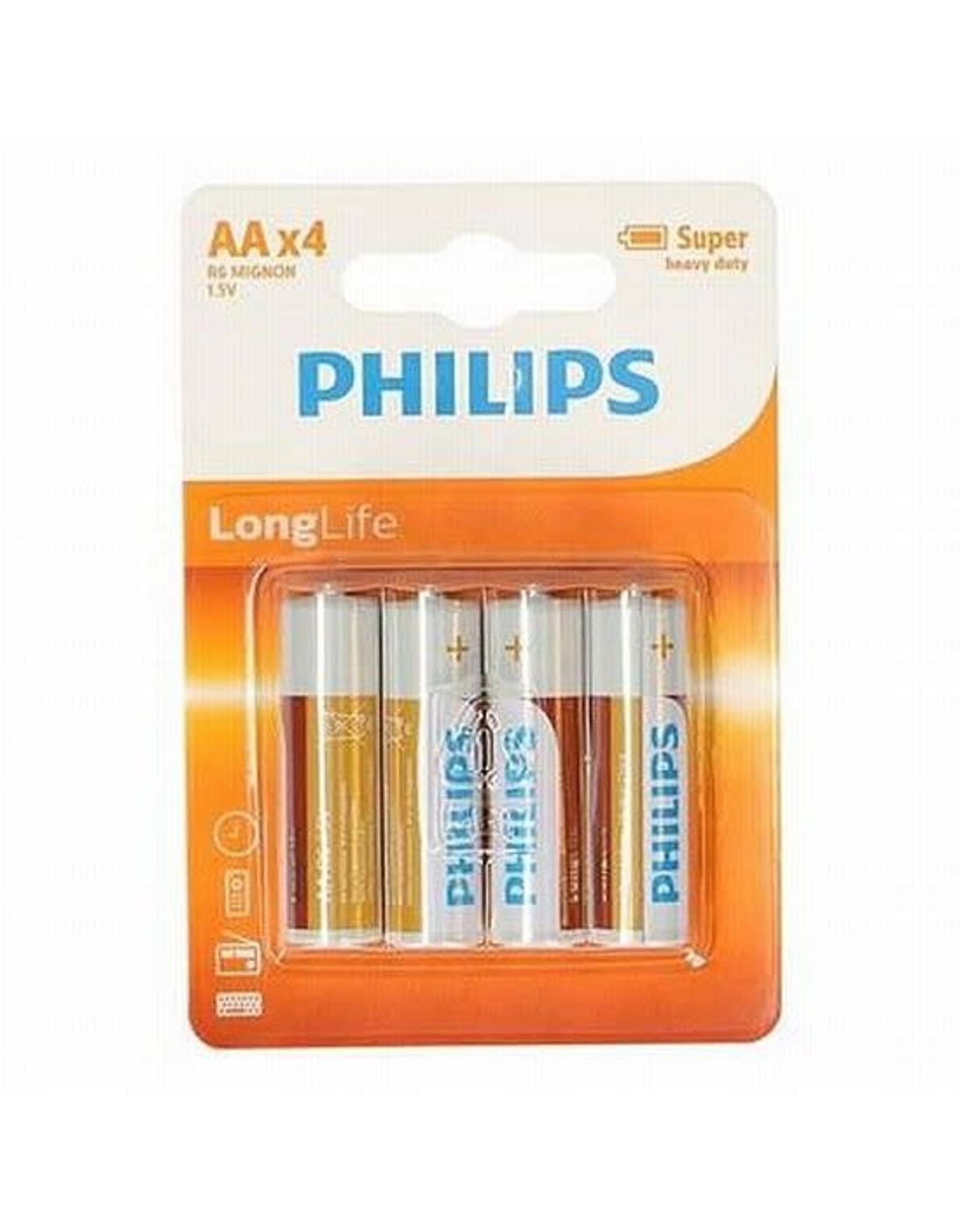 PHILIPS BATT.LONGLIFE R06 BLS/4 AA
