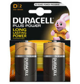 DURACELL Batterij Duracell D Plus Power batterijen (2 stuk
