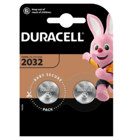 DURACELL Duracell CR2032 Coin Battery, 3V, 20mm Diameter